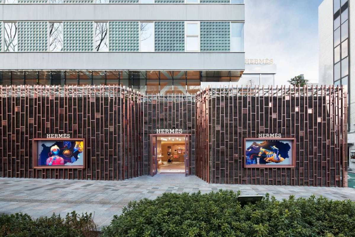 Hermès Continues Its Odyssey in Japan With The Opening Of A Store on Omotesando Avenue in Tokyo