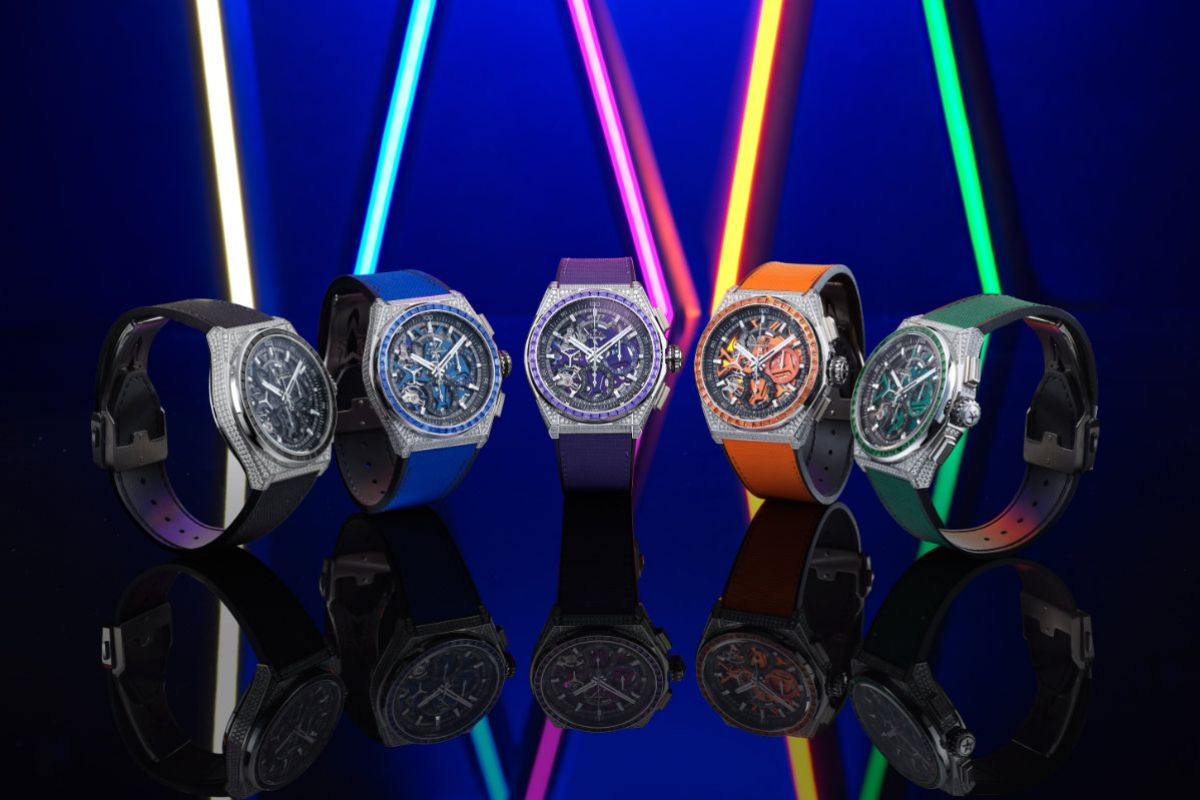 Brilliant, Precious Frequencies: Zenith Highlights Natural Colours In The Defy 21 Spectrum Series