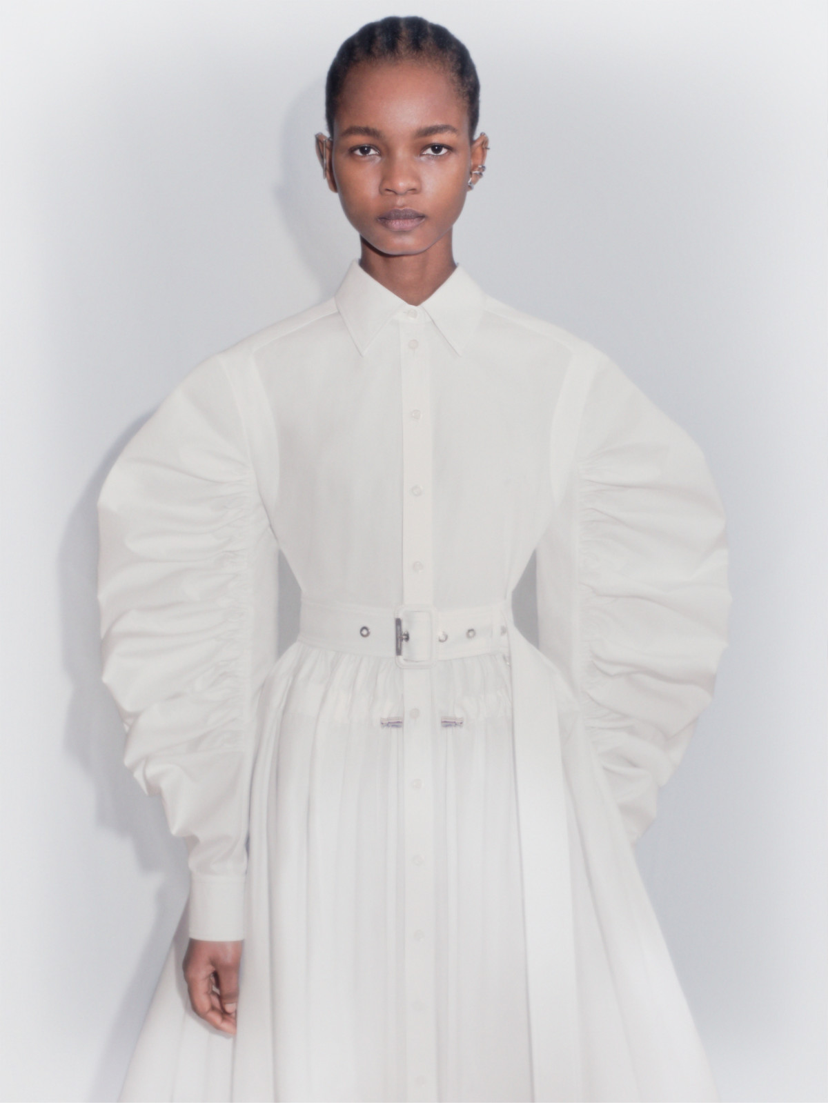 Silhouette In Focus Of Alexander McQueen's Spring/Summer 2021 Womenswear Collection